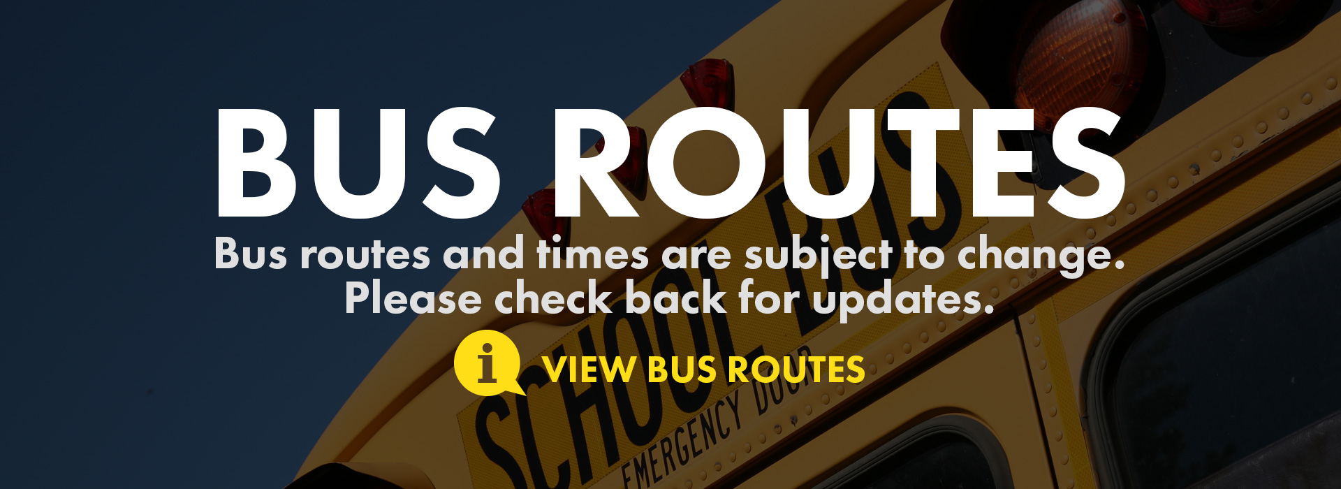 bus routes and time